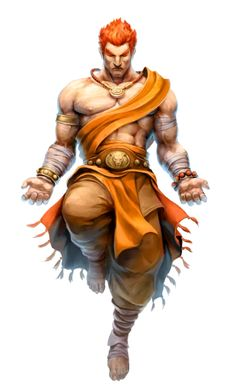 Azlanti deity - Scal - Calm After the Storm - Evil Fire Monk - Pathfinder PFRPG DND D&D 3.5 5th ed d20 fantasy