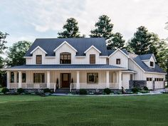 050H-0252: Country Luxury House Plan; 3467 sf