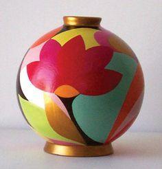 Valérie BRAND - La fête C - Céramique - Acrylique et vernis sur terre cuite