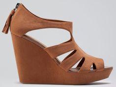 bershka dolgu topuk süet ayakkabı modeli