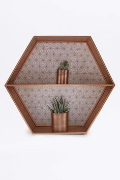 Copper Hexagon Shelf