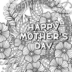 happy mothers day for adult zentangle coloring pages printable and coloring book to print for free. Find more coloring pages online for kids and adults of happy mothers day for adult zentangle coloring pages to print. Mothers Day Coloring Pages, Coloring Pages To Print, Printable Coloring Pages, Colouring Pages, Adult Coloring Pages, Coloring Books, Mothers Day Pictures, Happy Mother S Day, Mothers Day Crafts