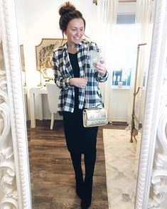 Love love love this black & white plaid blouse from @the.mercantile! It's so soft and has a ruffle along the hem in the back, too.  You all should definitely check out the shop, they have lots of cute pieces!  I hope everyone's having a great day!