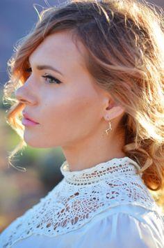 Gold Antler Earrings by padgett hoke
