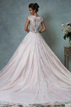 I love this dress in Blush: Wedding dress Dominika - AmeliaSposa