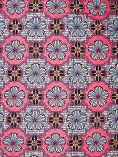 Super Wax Print African Fabric 6 Yards 100% Cotton sw0518B04