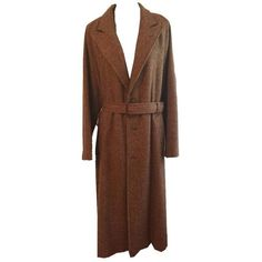 Pre-owned Ralph Lauren Trench Coat (860 CNY) ❤ liked on Polyvore featuring outerwear, coats, tan, oversized trench coat, brown trench coat, trench coat, tan trench coat and long coat