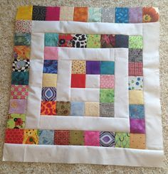 My Sewing Room: Design Wall Monday - Playing with squares   great idea for 2 1/2 inch squares