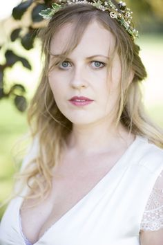 Pretty Natural Bohemian Bridal Bride Make Up Look Berry Lip http://www.careysheffield.com/