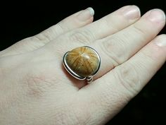 Made with ❤️ : Mens Fossil Ring | Sterling Silver Ring Sz 9.75 | Raw Stone Ring | Fossilized Sanddollar Ring | G...  https://www.etsy.com/listing/484115168/mens-fossil-ring-sterling-silver-ring-sz?utm_campaign=crowdfire&utm_content=crowdfire&utm_medium=social&utm_source=pinterest