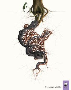 """""""As árvores salvam a vida selvagem."""" - WWF  www.eCycle.com.br Sua pegada mais leve."""