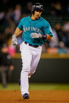 Left fielder Raul Ibanez was drafted by the Seattle Mariners in 1992. He made his MLB debut on August 1, 1996 and stayed with the franchise until 2000 when he was traded to the Kansas City Royals. He returned to Seattle in 2004-2008 and made his way back to Safeco Field in 2013. He retired with a .272 lifetime batting average.