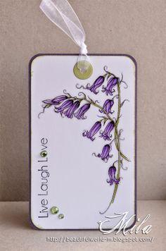 Таг със зюмбюл  /  Bluebell Flower Tag, #ADFD, #Spectrumnoir,