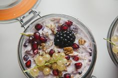 bircher muesli in a jar