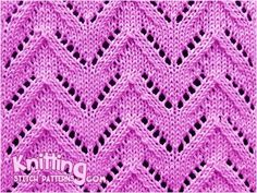 Lace chevron. Pattern includes written instructions and video tutoral. A great stitch for baby blanket with a seed stitch border
