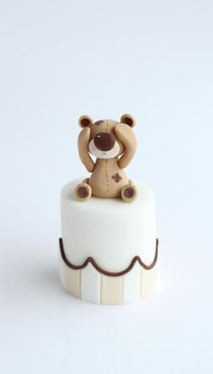 Mini Teddy Bear Cake by Rebecca Davies Cake Design