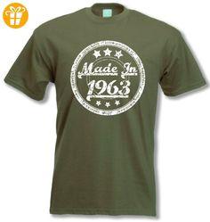 Made In 1963 - 54 Lustig Geburtstag Geschenk T-Shirt Oliv S - T-Shirts mit Spruch | Lustige und coole T-Shirts | Funny T-Shirts (*Partner-Link)