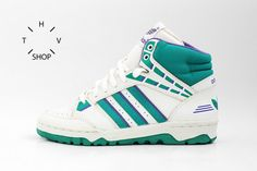 258c4d139426 NOS 1990 Adidas 2010 Hi vintage sneakers   Basketball hi tops   Deadstock  Unisex Trainers   bball association kicks   Made in Korea 90s