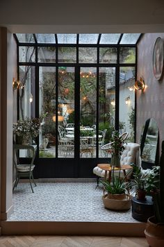 two days in paris 2017 Design Loft, House Design, Interior Exterior, Interior Architecture, Interior Design Living Room, Living Room Designs, Courtyard Design, Future House, Decks