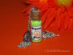 Disney Pixar Cars Fillmores Organic Fuel Necklace Peace Sign Charm by Life is the Bubbles.