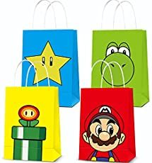 19 Awesome Super Mario Birthday Party Ideas Super Mario Birthday, Mario Birthday Party, Mario Party, Birthday Party Decorations, Party Favors, Birthday Parties, Party Packs, Gift Bags, Party Supplies