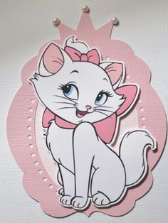 Marie Aristocats Party Invitations Set of 8 by ThePaperPartyBox: