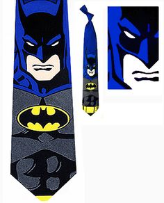 Our Batman tie is an official DC Comics super hero collector necktie.  You'll be the coolest guy around when you wear a DC Comic Book Necktie.