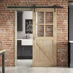 Buy JELD-WEN Framed Ledged and Braced clear glazed sliding barn door from The most competitive online store for interior and exterior doors Internal Sliding Doors, Barn Style Sliding Doors, Sliding Glass Door, Modern Country Style, Country Style Homes, Interior Barn Doors, Exterior Doors, Sliding Door Window Treatments, Black Interior Design