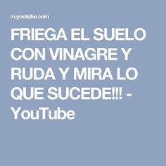 FRIEGA EL SUELO CON VINAGRE Y RUDA Y MIRA LO QUE SUCEDE!!! - YouTube