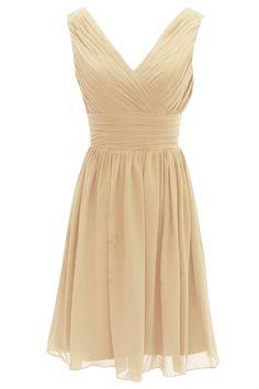 Dressystar Short Bridesmaid Dress Chiffon Party Evening Dress Mint Size 4