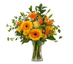 Orange You Glad Vase By Feldis Florist FF053