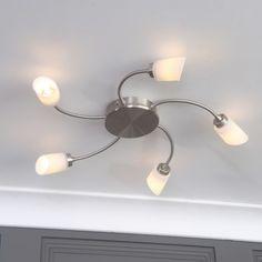 Pune 5 Light Flush Ceiling Light - Chrome from Litecraft