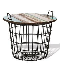Look what I found on #zulily! Basket Table #zulilyfinds