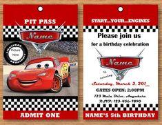 Personalised Cars Lightning McQueen  Birthday Party Invitation inc Envelopes c5