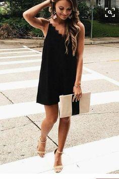 All Nighter Satin Lingerie Style Mini Slip Dress - Black