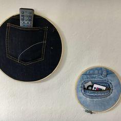 DIY Denim Wall Storage #craftyfridays Melon Smoothie, Old Jeans, Wall Storage, Crafty, Sick, Denim, Rest, Friday, Friends