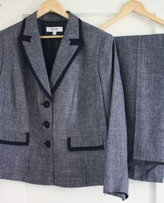 14b1a54fd9d NWT Jones Studio Navy Lined Suit Blazer Pants Plus Size 18W NEW Career  Jacket