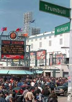 Michigan and Trumbull - we always bought our peanuts on the corner before going to the Tigers game. Michigan Travel, State Of Michigan, Detroit Michigan, Detroit Downtown, Detroit Sports, Detroit Tigers Baseball, Detroit Area, Tiger Stadium, Detroit History