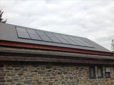 In roof PV system at the Braunton Countryside Centre