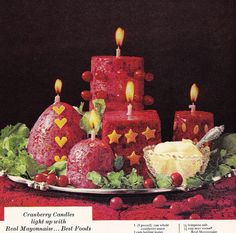 Best Foods Mayonnaise Ad 1960s with Jello Molds -- Make enough to place throughout the house!