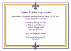 find lots of help with your Mardi Gras party invites to guarantee a fun and unique blow-out celebration at Holiday-Invitations