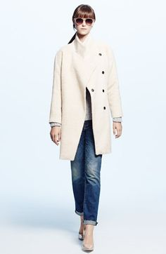 Trina Turk Coat, cupcakes and cashmere Sweater & 7 For All Mankind® Jeans available at #Nordstrom