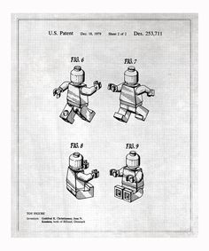 Take a look at this Gray Lego Toy Figure #2 1979 Art Print on zulily today!