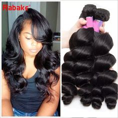 so beautiful hair, do you like it, the most important, the price is very good!  Malaysian Loose Wave Hair Bundles 8 28inch 3/Rabake Virgin Human Hair Weave Extensions Double Wefts 100g/Bundle Best Cheap Price Best Human Hair For Weaving The Best Human Hair Weave From Rabakehair, $76.59| Dhgate.Com Loose Waves Hair, Virgin Hair Extensions, Do You Like It, Be A Nice Human, Weave Hairstyles, Curly, Long Hair Styles, Beauty, Beautiful