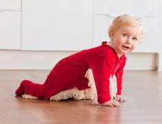 """Zu faul zum Wischen? Zeuge einfach ein Kind und besorg dir diesen """"Baby-Mop""""! :p"""