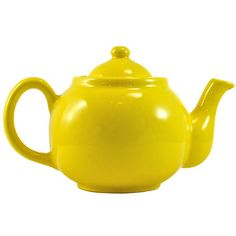 Pre-Owned 1950s Yellow Ball Teapot (110 NZD) ❤ liked on Polyvore featuring home, kitchen & dining, teapots, serveware, yellow, tea-pot, yellow tea pot, yellow teapot and tea pot