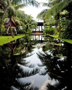 Anantara Bophut Resort & Spa - The Bill Bensley–designed gardens create a cool and tranquil atmosphere. #JSSpa