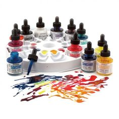 Dr. Ph. Martin's Hydrus Fine Art Watercolors are simply remarkable! These watercolors come to you already in a liquid form. This means that you get a pure, high intensity watercolor that is perfect for use with a spray bottle, oiler boiler or brush. Each bottle of watercolor paint is equipped with an eye-dropper inside the lid for moving the color to your palette or paper easily without wasting a drop!