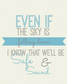 Capital Cities Safe and Sound 8x10 Lyric art by gbloomstudio, $15.00