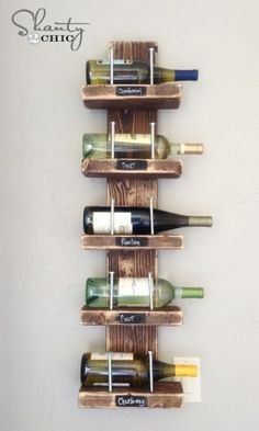 Simple wine rack - 50 Decorative Rustic Storage Projects For a Beautifully Organized Home